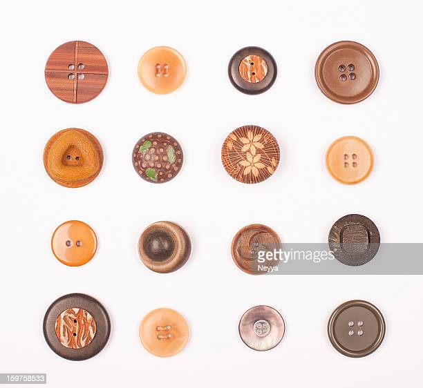 Brown Vintage Buttons