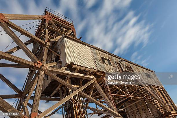 Browne Shaft landing brace, constructed in 1962. At the Junction Silver Mine which operated from 1886 to 1972. Broken Hill is located east of the...