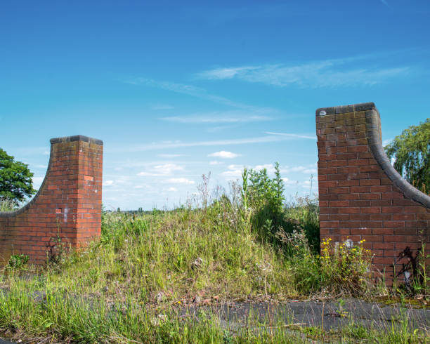 Brownfield land, formally a public housing estate, demolished some years previously.