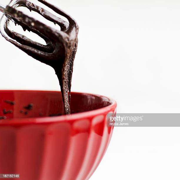 brownie batter with copy space square - brownie stock pictures, royalty-free photos & images