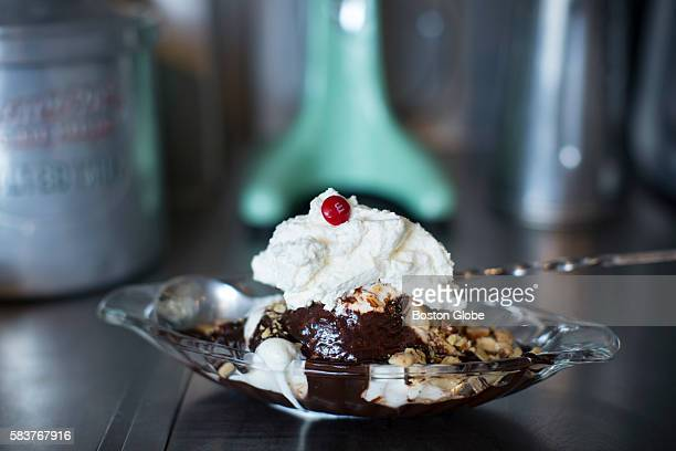 A brownie sundae $7 at Forge Ice Cream Bar in Somerville Mass July 13 2016 Coowners Jen Park and Tucker Lewis recently opened the ice cream shop