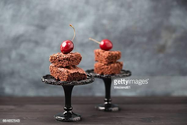 Brownies and cherries