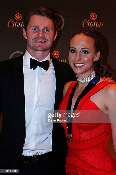 Brownlow Medalist Patrick Dangerfield and Mardi Dangerfield during the 2016 Brownlow Medal after party at Crown Entertainment Complex on September 26...