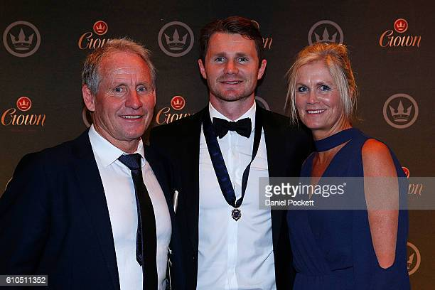 Brownlow Medalist Patrick Dangerfield with his mother Jeanette Dangerfield and his father John Dangerfield during the 2016 Brownlow Medal after party...