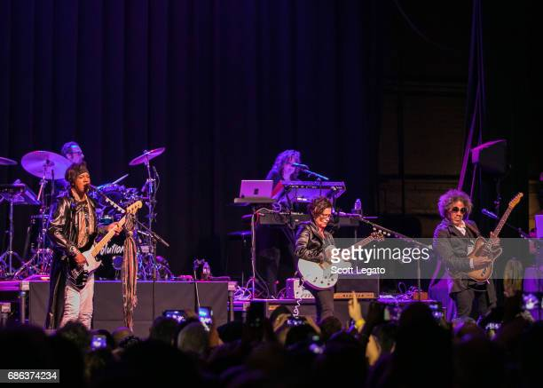 Brownmark Bobby Z Wendy Melvoin Lisa Coleman and Miko Weaver of The Revolution perform at Majestic Theater on May 20 2017 in Detroit Michigan