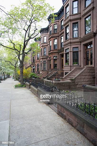 Brownstone townhouses, Brooklyn, New York City