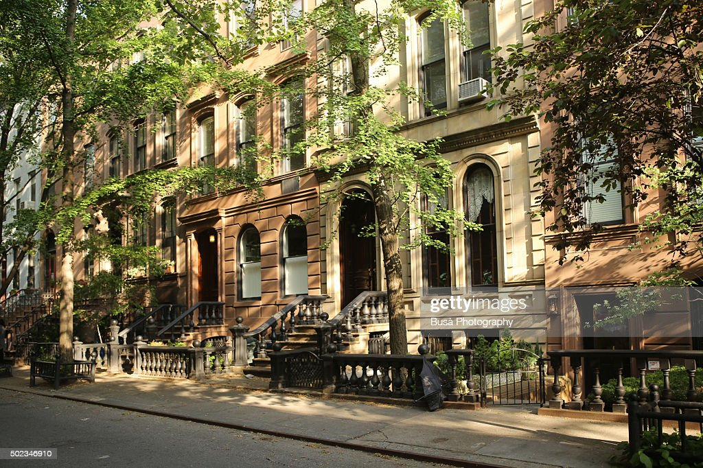 Brownstones in a quiet residential street in manhattan new for New york city brownstone for sale