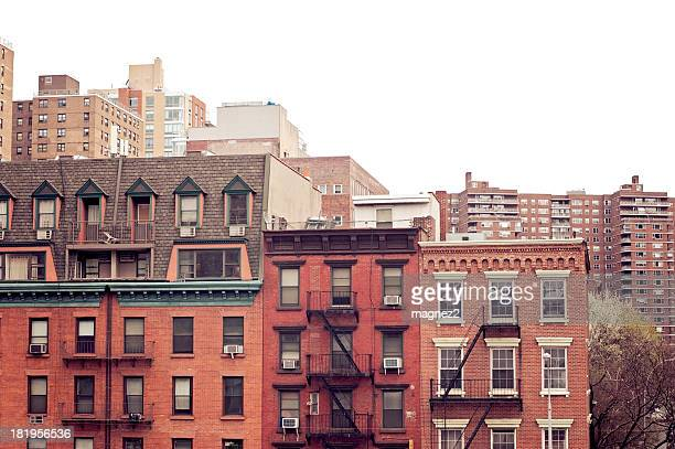 brownstones - terraced_house stock pictures, royalty-free photos & images