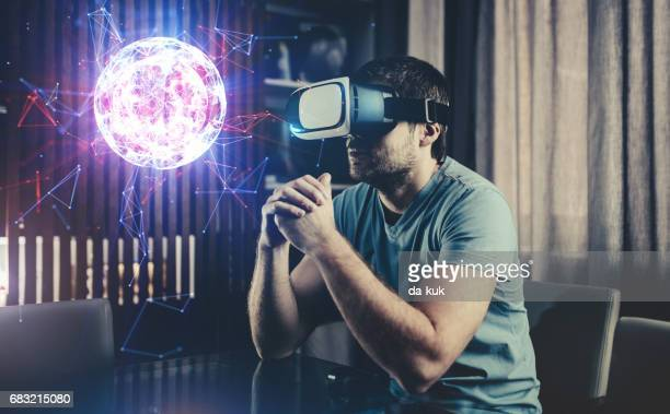 Browsing a Virtual World in Virtual Reality Glasses