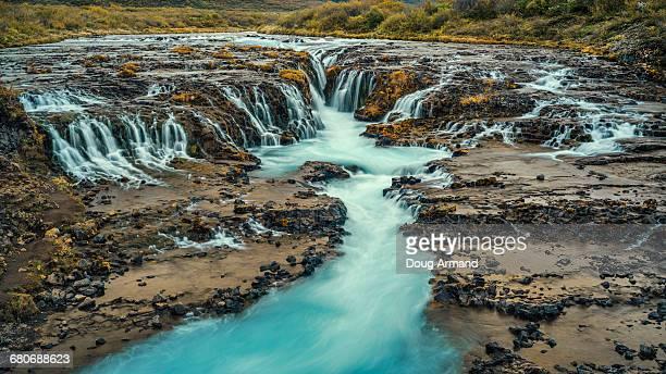Bruarfoss waterfall in Iceland