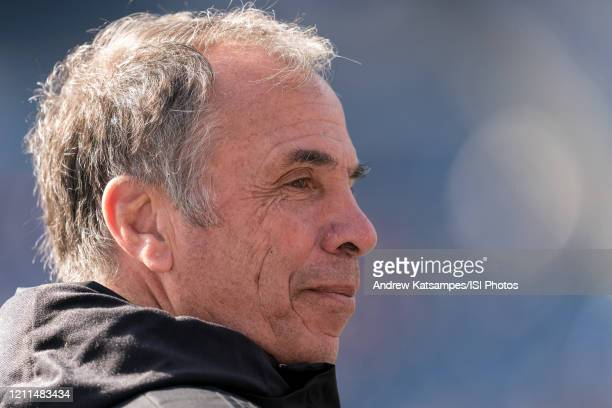 Bruce Arena coach of New England Revolution during a game between Chicago Fire and New England Revolution at Gillette Stadium on March 7 2020 in...