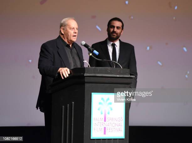 Bruce Beresford speaks at the Closing Night Screening of 'Ladies In Black' at the 30th Annual Palm Springs International Film Festival on January 13...