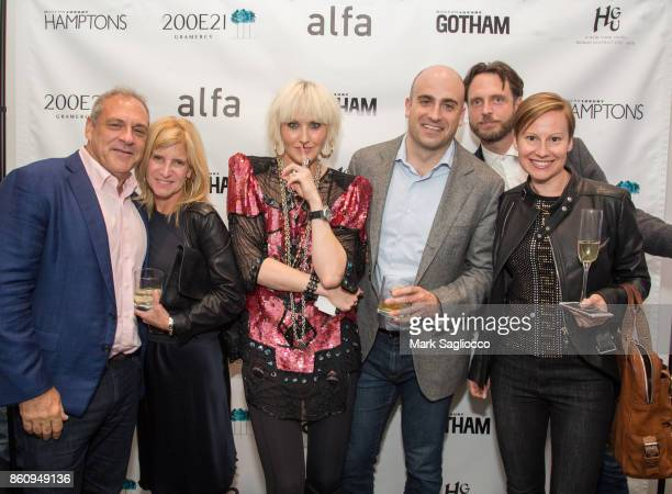 Bruce Berstein Hillary Valentine ML Perlman Andrew Perlman Aidan Butler and Anastasia Nyrkovskaya attend the Alfa Development Launch Celebration on...