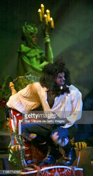 Bruce Bisping/Star Tribune. Chanhassen, MN., Wednesday, 4/27/2005. Thomas Schumacher as the Beast in the Chanhassen production of Beauty and the...