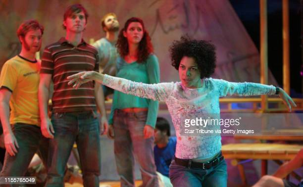 Bruce Bisping/Star Tribune. Minneapolis, MN., Friday, 7/2/2004. Michelle Carter and other members of the HAIR cast rehearsed the song Aquarius during...