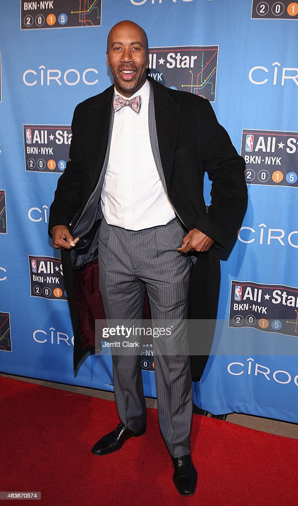 Bruce Bowen attends the NBA-All Star Game Red Carpet Powered By CIROC Vodka at Madison Square Garden on February 15, 2015 in New York City.