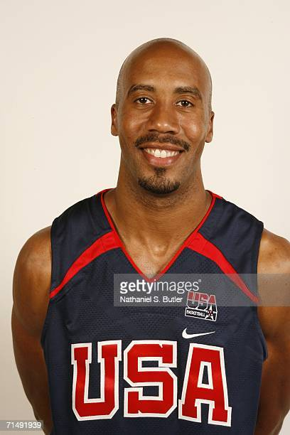 Bruce Bowen of the USA Basketball Men's Senior National Team poses for a portrait on July 20 2006 at the Cox Pavilion in Las Vegas Nevada NOTE TO...