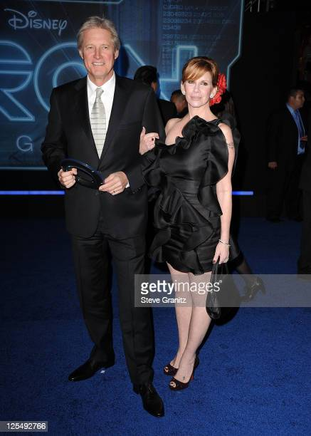 "Bruce Boxleitner and Melissa Gilbert arrives at the premiere of ""TRON Legacy"" at the El Capitan Theatre on December 11, 2010 in Hollywood, California."