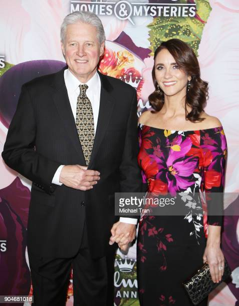 Bruce Boxleitner and Verena King arrive to the Hallmark Channel and Hallmark Movies and Mysteries Winter 2018 TCA Press Tour held at Tournament House...