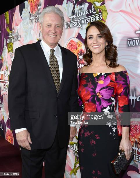 Bruce Boxleitner and Verena King attend Hallmark Channel and Hallmark Movies and Mysteries Winter 2018 TCA Press Tour at Tournament House on January...