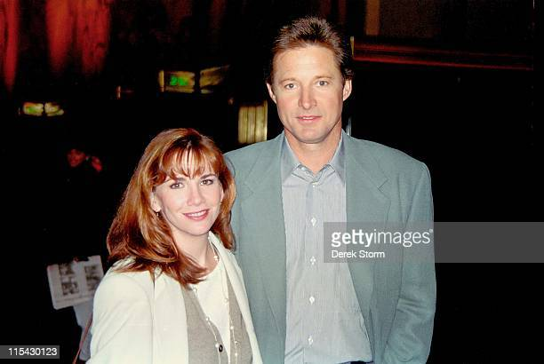 Bruce Boxleitner & Melissa Gilbert during Bruce Boxleitner & Melissa Gilbert sighting in midtown - March 16, 1994 at Streets Of New Yorm City in New...