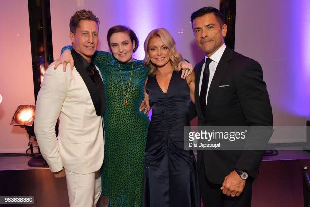 Bruce Bozzi Lena Dunham Kelly Ripa and Mark Consuelos attend Lincoln Center's American Songbook Gala at Alice Tully Hall on May 29 2018 in New York...