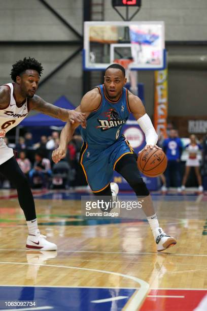 Bruce Brown of the Grand Rapids Drive handles the ball against the Canton Charge during the NBA GLeague on November 17 2018 at the DeltaPlex Arena in...