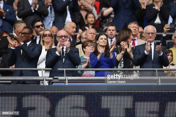 Bruce Buck Chairman of Chelsea and Marina Granovskaia Director of Chelsea look on from the stand prior to the Emirates FA Cup Final between Arsenal...