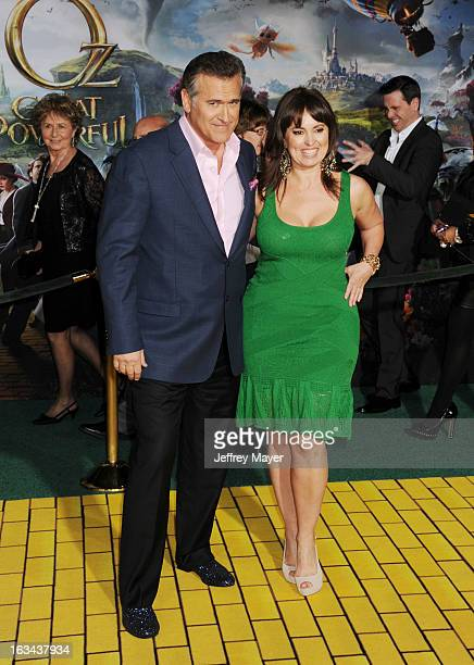 Bruce Campbell and Ida Gearon attend the world premiere of Disney's 'OZ The Great And Powerful' at the El Capitan Theatre on February 13 2013 in...