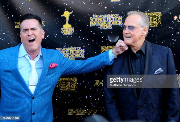 Bruce Campbell and Lee Majors attend the 43rd Annual Saturn Awards at The Castaway on June 28, 2017 in Burbank, California.