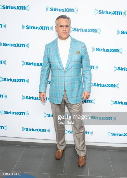 Bruce Campbell visits the SiriusXM Studios on June 05, 2019 in New York City.