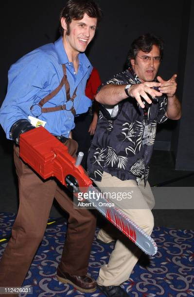 "Bruce Campbell with Ash from ""Evil Dead"" during 36th Annual Comic Con International - Day One at San Diego Convention Center in San Diego,..."
