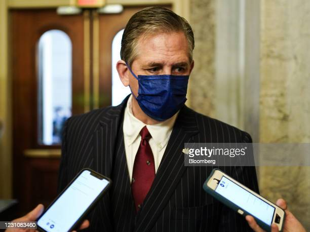 Bruce Castor, defense attorney for Donald Trump, speaks to members of the media at the U.S. Capitol in Washington, D.C., U.S., on Wednesday, Feb. 10,...