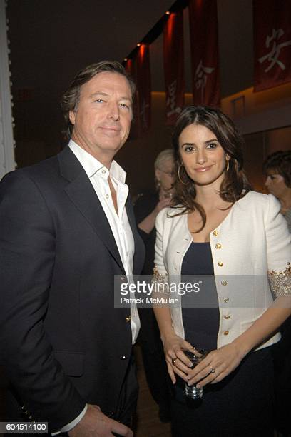 Bruce Colley and Penelope Cruz attend A Special Screening Of Sony Pictures Classics VOLVER And Dinner Party at Tribeca Grand Hotel / Dinner at 66 on...