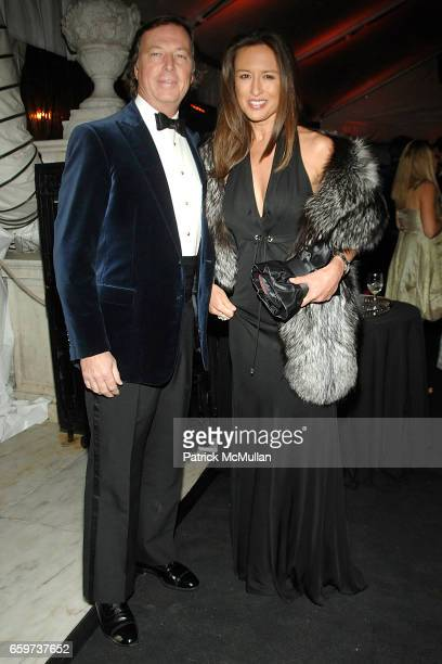 Bruce Colley and Teresa de Seguera attend MUSEUM of the CITY OF NEW YORK Director's Council and VERSACE WINTER BALL at Museum of the City of New York...
