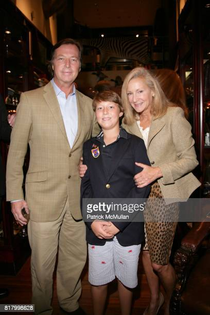 Bruce Colley Davis and Karen Klopp attend What2WearWhere Beretta Hunt Couture Cocktails at Beretta Store Madison Avenue on September 30 2010 in New...