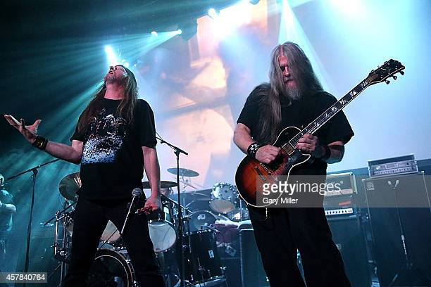 Bruce Corbitt performs on stage with Wizards of Gore AKA Rigor Mortis during the Housecore Horror Film Music Festival at Emo's on October 24 2014 in...