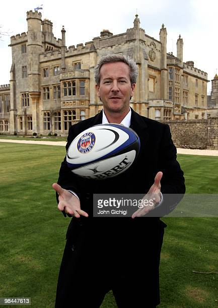 Bruce Craig, Bath Rugby's new owner poses after the press conference today to unveil Farleigh House, on the outskirts of Bath, as the club's new...