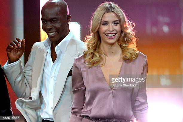Bruce Darnell and Lena Gercke arrive at the taping of the anniversary show '30 Jahre RTL Die grosse Jubilaeumsshow mit Thomas Gottschalk' on December...