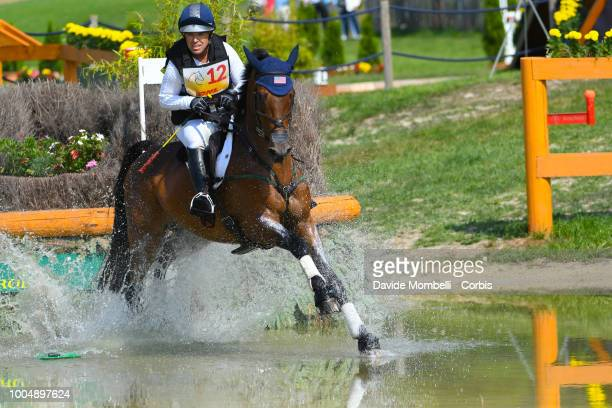 Bruce Davidson Jr of the United States riding Carlevo during the obstacle in the water of the Cross Country test DHLPrize in the park of the CHIO of...