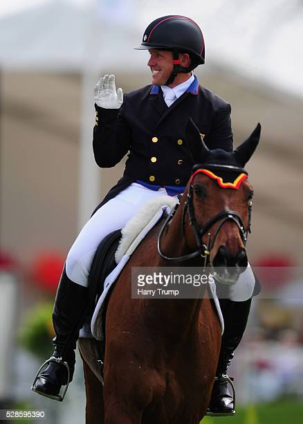 Bruce Davidson Jr of USA riding The Apprentice during Day Three of the Badminton Horse Trials on May 6 2016 in Badminton Gloucestershire