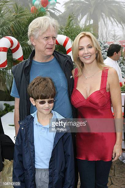 Bruce Davison and Eloise DeJoria during Snowy Christmas Eve in Malibu December 24 2005 at Private Residence in Malibu CA United States