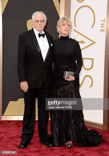 Bruce Dern and Andrea Beckett attend the Oscars held at Hollywood Highland Center on March 2 2014 in Hollywood California