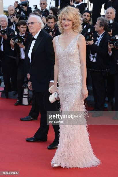 Bruce Dern and Laura Dern attend Nebraska Premiere during the 66th Annual Cannes Film Festival at Grand Theatre Lumiere on May 23 2013 in Cannes...