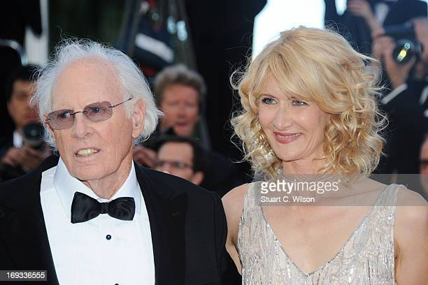 Bruce Dern and Laura Dern attend the 'Nebraska' premiere during The 66th Annual Cannes Film Festival at the Palais des Festival on May 23 2013 in...