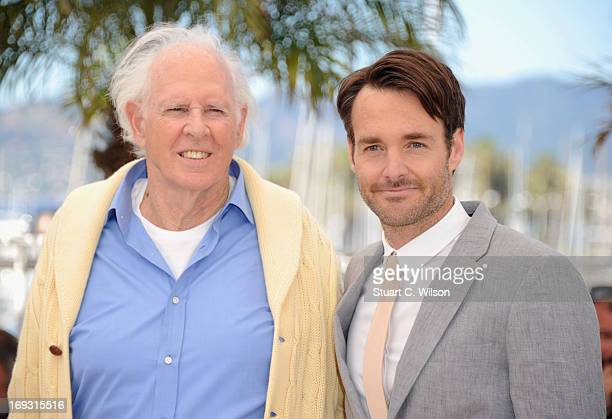 Bruce Dern and Will Forte attend the Photocall for 'Nebraska' during The 66th Annual Cannes Film Festival at the Palais des Festival on May 23 2013...