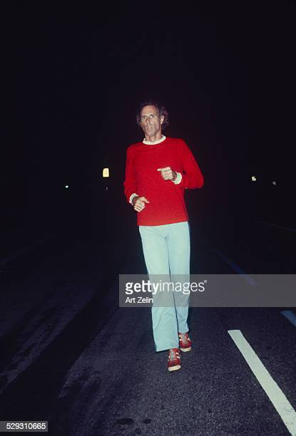 Bruce Dern jogging in Central Park circa 1970 New York