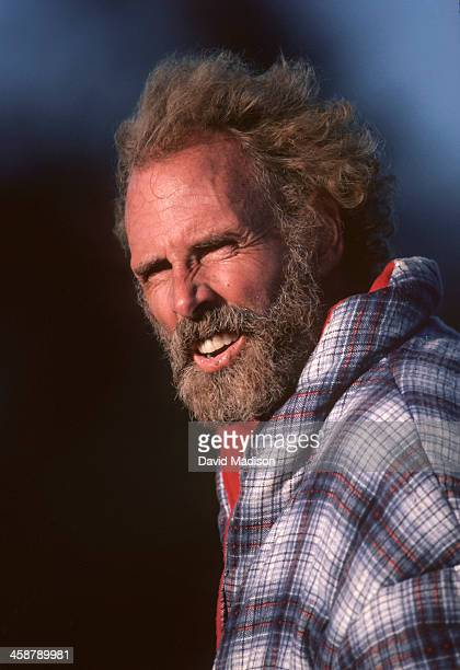 Bruce Dern waits between scenes during the making of the movie On the Edge filmed in July 1983 in Marin County California