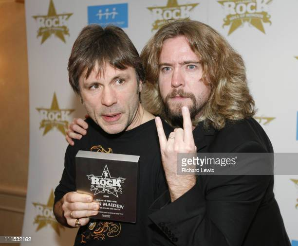 Bruce Dickinson of Iron Maiden and Justin Lee Collins