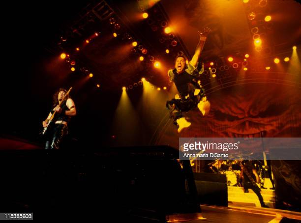 Bruce Dickinson of Iron Maiden during Iron Maiden in Concert at Long Beach Arena on August 25, 2003 at Long Beach Arena in Long Beach, California,...